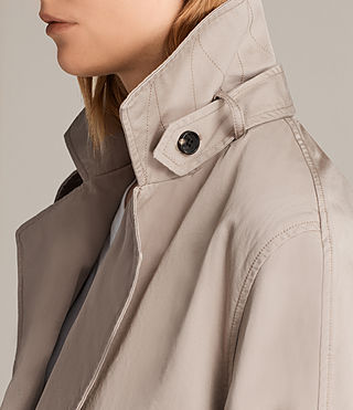 Womens Luna Stitch Twill Mac (Putty Grey) - product_image_alt_text_5