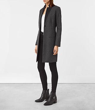 Womens Leni Coat (Charcoal) - product_image_alt_text_2