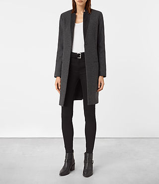Women's Leni Coat (Charcoal Grey) -