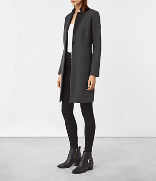 Women's Leni Coat (Charcoal Grey) - product_image_alt_text_2