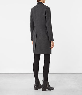 Women's Leni Coat (Charcoal Grey) - product_image_alt_text_3