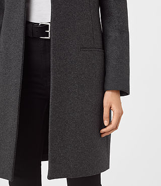 Women's Leni Coat (Charcoal Grey) - product_image_alt_text_4