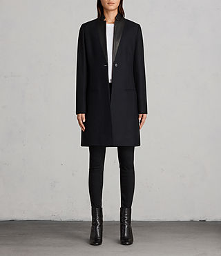 Damen Leni Coat (Ink Blue)