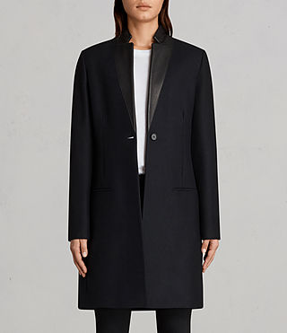 Women's Leni Coat (Ink Blue) - product_image_alt_text_4