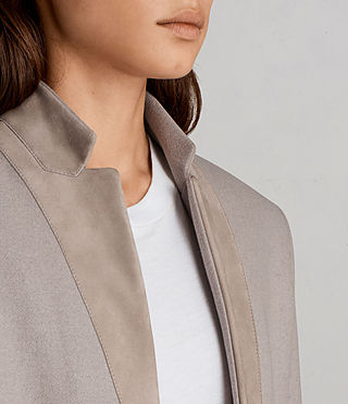 Womens Leni Coat (Taupe Brown) - product_image_alt_text_2