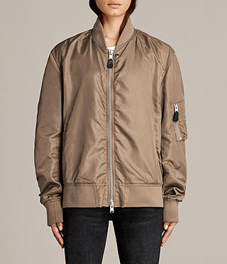 Womens Myra Bomber Jacket (DUSTY KHAKI GREEN) - Image 1