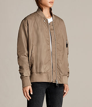 Womens Myra Bomber Jacket (DUSTY KHAKI GREEN) - Image 3