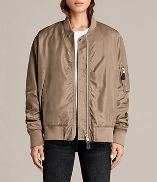 Womens Myra Bomber Jacket (DUSTY KHAKI GREEN) - Image 4