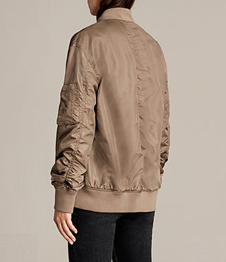Womens Myra Bomber Jacket (DUSTY KHAKI GREEN) - Image 5