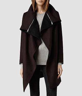 Womens Jax Coat (Burgundy)