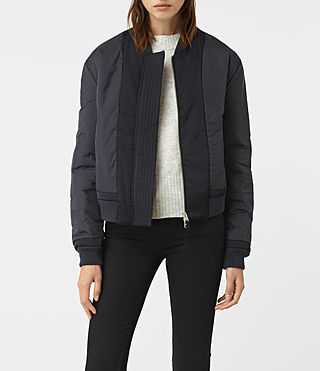 Womens Dixie Bomber Jacket (Ink Blue)