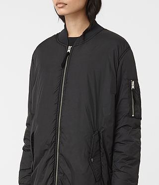 Mujer Tyne Bomber Parka (Black) - product_image_alt_text_3