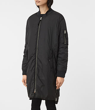 Mujer Tyne Bomber Parka (Black) - product_image_alt_text_4