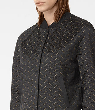 Damen Fia Bomber Jacket (BLACK/KHAKI GREEN) - product_image_alt_text_2