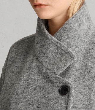 Womens 미드 리치 코트 (Pale Grey) - product_image_alt_text_2