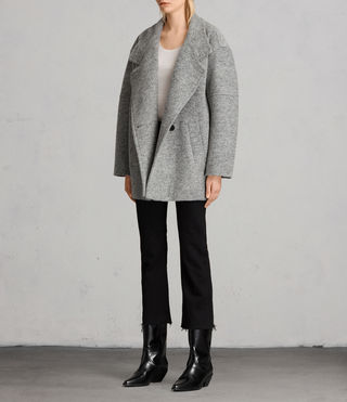 Womens 미드 리치 코트 (Pale Grey) - product_image_alt_text_3