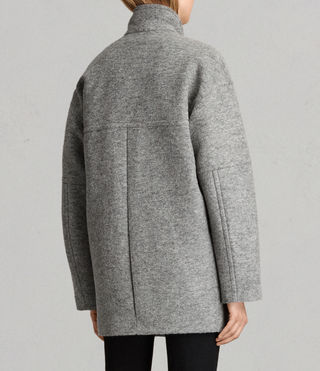 Womens Meade Ricci Coat (Pale Grey) - product_image_alt_text_7