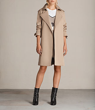 Femmes Trench Court Riley Mac (SAND BROWN) -