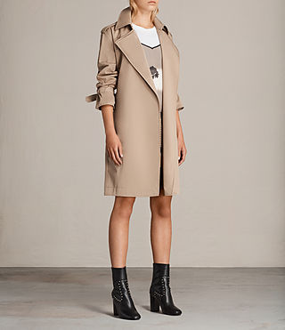 Femmes Trench Court Riley Mac (SAND BROWN) - product_image_alt_text_3