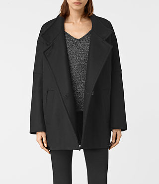 Womens Meade Nesi Coat (Black)