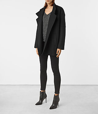 Womens Meade Nesi Coat (Black) - product_image_alt_text_2