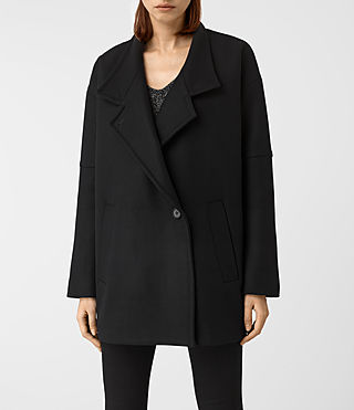 Womens Meade Nesi Coat (Black) - product_image_alt_text_4
