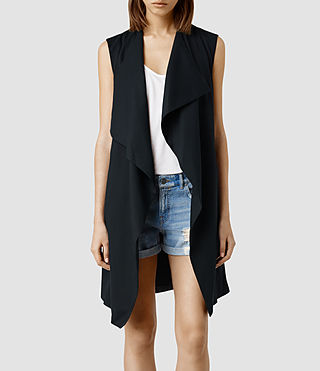 Womens Hace Slvless Trench (Ink)