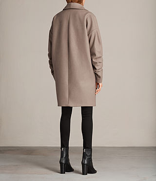 Womens Kenzie Ruche Coat (DUNE BROWN) - Image 6