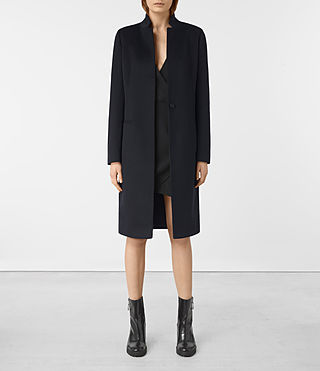 Damen Ebony Coat (Ink Blue)