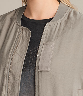 Women's Angie Light Bomber Jacket (Washed Khaki) - Image 2