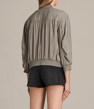 Women's Angie Light Bomber Jacket (Washed Khaki) - Image 4