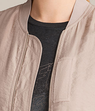 Femmes Angie Light Bomber Jacket (Dusty Pink) - product_image_alt_text_2