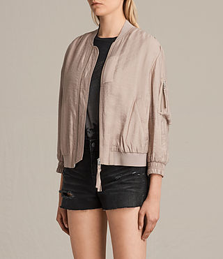Femmes Angie Light Bomber Jacket (Dusty Pink) - product_image_alt_text_3