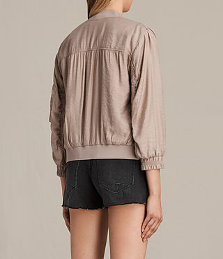 Femmes Angie Light Bomber Jacket (Dusty Pink) - product_image_alt_text_4