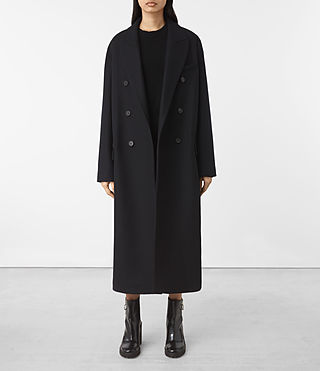 Womens Shelby Coat (Ink Blue) - product_image_alt_text_1