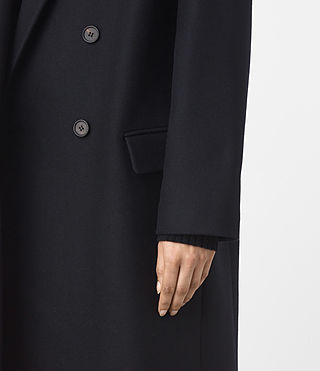 Mujer Shelby Coat (Ink Blue) - product_image_alt_text_2