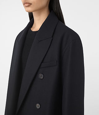 Womens Shelby Coat (Ink Blue) - product_image_alt_text_3