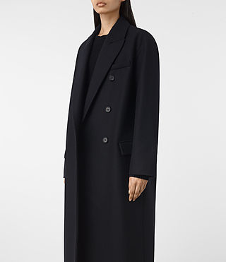 Womens Shelby Coat (Ink Blue) - product_image_alt_text_4