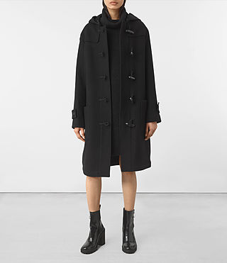 Women's Ruscoe Duffle Coat (Black)