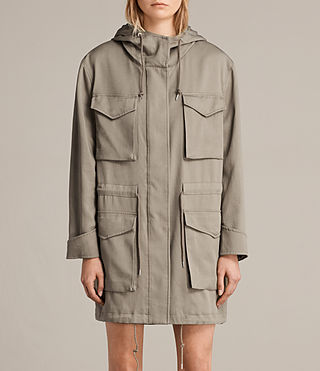 Mujer Parka Sloane Drape (SAGE GREEN) - product_image_alt_text_1