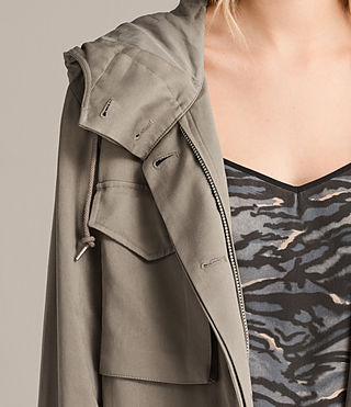 Mujer Parka Sloane Drape (SAGE GREEN) - product_image_alt_text_2