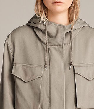 Mujer Parka Sloane Drape (SAGE GREEN) - product_image_alt_text_3