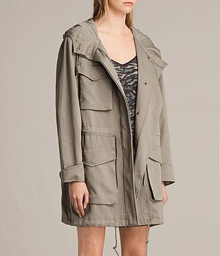 Mujer Parka Sloane Drape (SAGE GREEN) - product_image_alt_text_4
