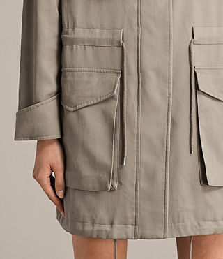 Mujer Parka Sloane Drape (SAGE GREEN) - product_image_alt_text_5