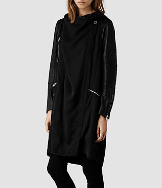 Womens Gion Parka Jacket (Black) - product_image_alt_text_2