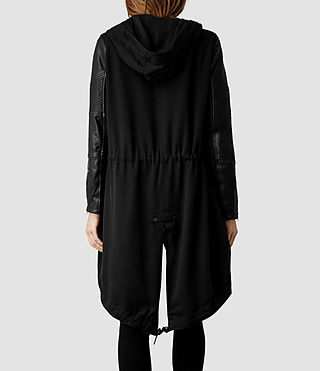 Womens Gion Parka Jacket (Black) - product_image_alt_text_3