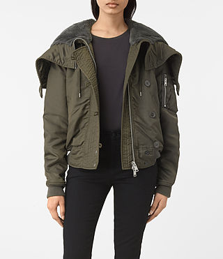 Mujer Otis Jacket (Khaki Green) - product_image_alt_text_1