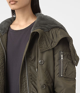 Mujer Otis Jacket (Khaki Green) - product_image_alt_text_2
