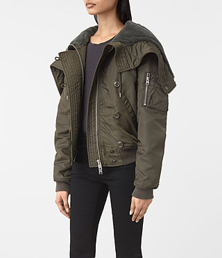 Mujer Otis Jacket (Khaki Green) - product_image_alt_text_3