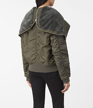 Mujer Otis Jacket (Khaki Green) - product_image_alt_text_4